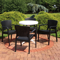 Sunnydaze All-Weather Segonia 5-Piece Patio Furniture Dining Set