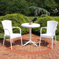 Sunnydaze All-Weather Segesta 3-Piece Patio Furniture Dining Set