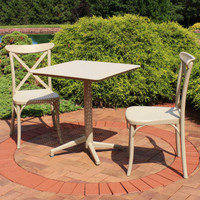 Sunnydaze All-Weather Bellemead 3-Piece Patio Furniture Dining Set