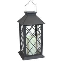Concord Outdoor Solar LED Decorative Candle Lantern, Single