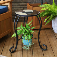 Shown in use as table with plant below
