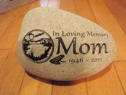 "Custom Engraved Medium Garden Stone - 7-9"""