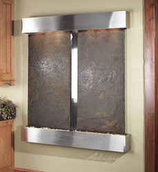 Stainless Steel Cottonwood Falls with Rajah Slate