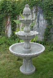 Sunnydaze Welcome 3-Tier Garden Fountain, 59 Inch Tall