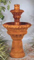 Valencia Two-Tier Cast Stone Fountain by Henri Studio
