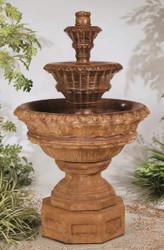 Valencia Three-Tier Cast Stone Fountain by Henri Studio