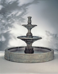 Small Contemporary Cast Stone Tiered in Valencia Fountain by Henri Studio