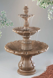 Beautiful 6-Piece Cast Stone Classical Finial Fountain by Henri Studio