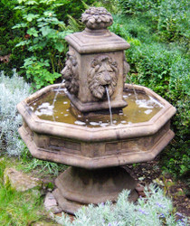 Cast Stone Classic Lion Fountain by Henri Studio