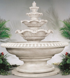 Palazzo Quattro Tier Cast Stone Fountain by Henri Studio