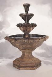 Henri Studio Cast Stone Grande Kensington Three-Tier Fountain