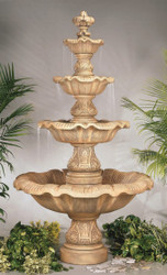 Cast Stone Four Tier Renaissance Fountain by Henri Studio
