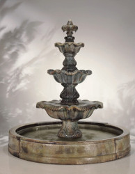 Grand Cast Stone Classical Finial in Valencia Fountain by Henri Studio