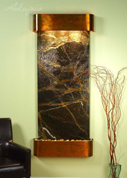 Rustic copper with Green Marble