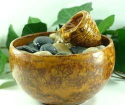 Mini Face Vase Table Fountain