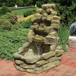 Stone Falls Outdoor Fountain