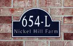 Address Plaque-Model 654