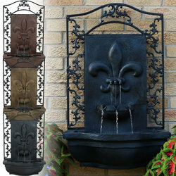 French Lily Outdoor Wall Water Fountain, Color Options