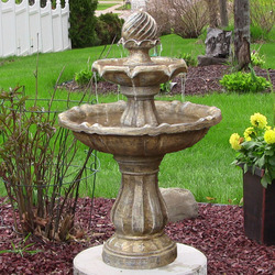 Two Tier Solar on Demand Outdoor Water Fountain
