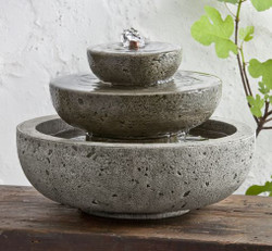 Platia Cast Stone Tabletop Fountain by Campania International