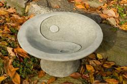 Yin Yang Pedestal Birdbath by Campania International