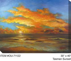 Tasman Sunset Canvas Wall Art