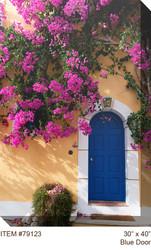 Blue Door Canvas Wall Art