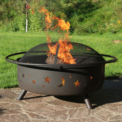Large Cosmic Outdoor Patio Fire Pit