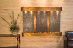 Rustic Copper & Rajah Slate with Rounded Corners