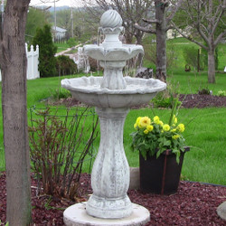 2-Tier Arcade Solar on Demand Outdoor Water Fountain