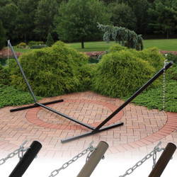 15 Foot Hammock Stand with Heavy-Duty Steel Beam Construction