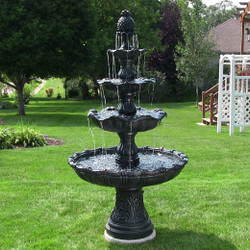 4-Tier Grand Courtyard Outdoor Water Fountain