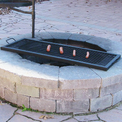 X-Marks Rectangle Fire Pit Cooking Grill