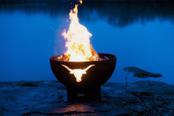 Long Horn Fire Pit by Fire Pit Art
