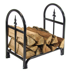 2' Log Rack with Firewood