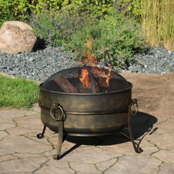 "24"" Steel Cauldron Fire Pit"