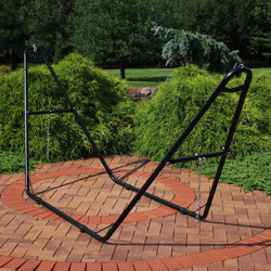 Universal Multi-Use Heavy-Duty Steel Hammock Stand, Black