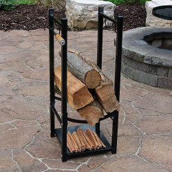 Black Outdoors with Logs