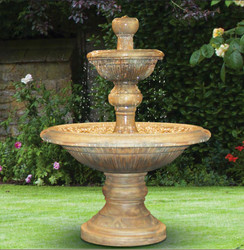 Henri Studio Cast Stone Two-Tier Traviata Water Fountain