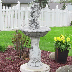 Sunnydaze Fairy Flower Solar with Battery Backup Outdoor Water Fountain, 42.5 Inches Tall