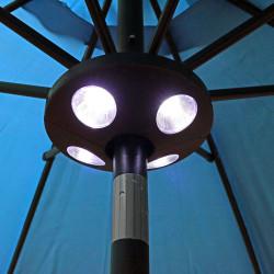 Sunnydaze Battery Operated Patio Umbrella Pole Light, 4 LED Lights