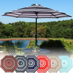 Striped 9-Foot Aluminum Patio Umbrella, Multiple Options