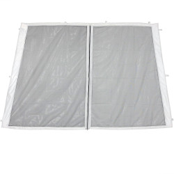 1-Panel-8 Foot Slant Leg Zippered Mesh