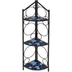 3-Tier Mosaic Tiled Indoor/Outdoor Corner Display Shelf