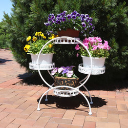 4-Tier Ferris Wheel Indoor/Outdoor Plant and Flower Stand