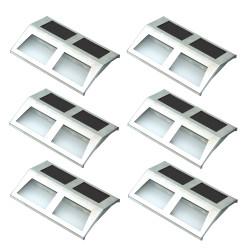 Stainless Steel Mounted Solar LED Light - Set of 6