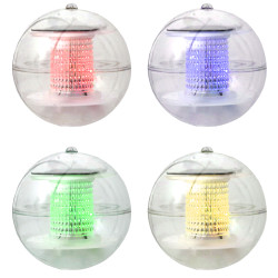 Color-Changing Solar LED Light Floating Ball - Set of 4