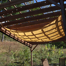 Beige Square Sun Shade Sail