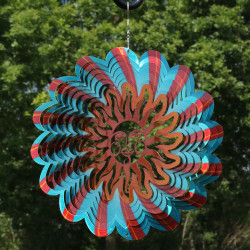 3D Multi-Color Sun Wind Spinner