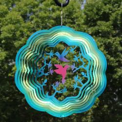 Turquoise Hummingbird Wind Spinner